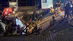 La mañana - Más de 300 heridos al derrumbarse un muelle de madera en Vigo