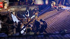 Más de 300 heridos, 5 de ellos graves, al derrumbarse un muelle de madera durante un concierto en Vigo