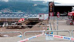 Las primeras hipótesis sobre el derrumbe de la plataforma de Vigo apuntan a un problema en la estructura o falta de mantenimiento