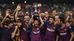 Dembélé y Ter Stegen decantan la Supercopa de España del lado del Barcelona