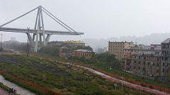 Se desploma un viaducto en Génova y varios vehículos caen al vacío