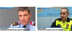 Mossos i policia local de Cambrils, un any després