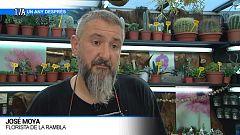 José Moya, florista de La Rambla