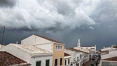 Lluvias y tormentas con granizo en el área mediterránea