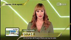 Sorteo ONCE - 16/08/18