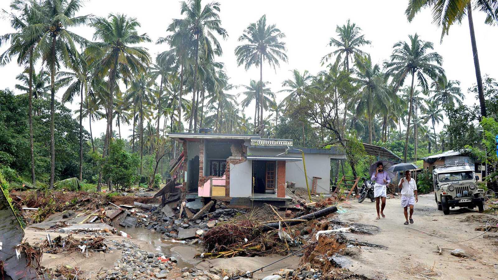 Kerala sufre sus peores inundaciones en un siglo