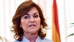 """Carmen Calvo sobre Torra: """"No se ataca al estado porque es una frase"""""""