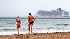 Viento fuerte en el Estrecho y temperaturas altas en Galicia y Girona