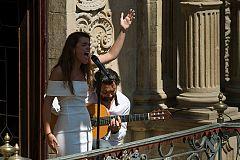 Operación Triunfo - Amaia canta 'Mi risueñor' en el Festival 'Flamenco On Fire' de Pamplona