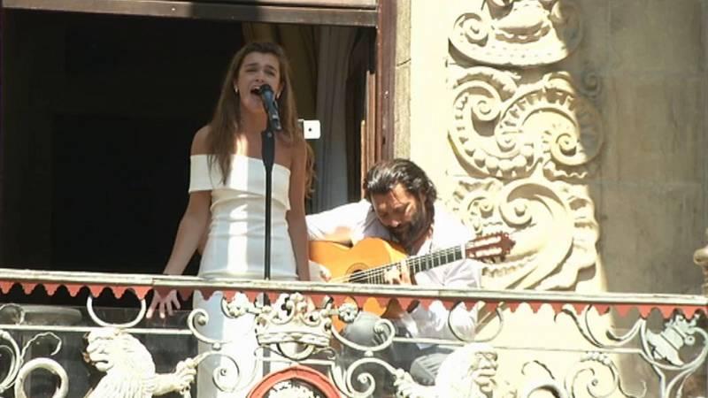 Operación Triunfo - Amaia canta 'Dos Cruces' en el 'Flamenco On Fire' de Pamplona