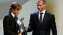 Luka Modric y el Madrid copan los premios de la UEFA 2017-2018