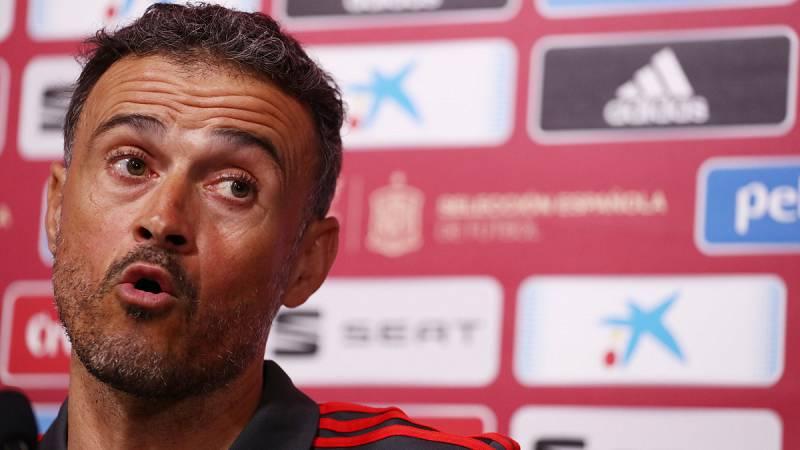 El seleccionador nacional, Luis Enrique, no ha querido hablar de las ausencias de la primera lista como la de Jordi Alba, Koke o Lucas Vázquez.