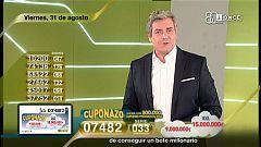 Sorteo ONCE - 31/08/18