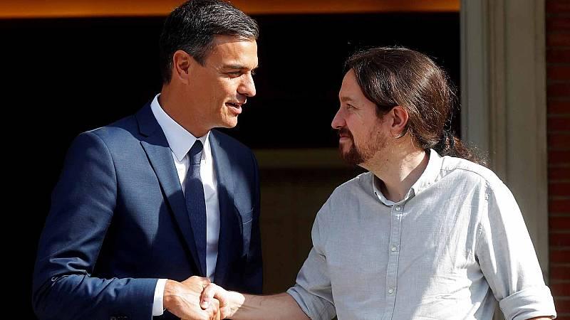 Sánchez e Iglesias acuerdan bajar el IVA y los impuestos a los autónomos