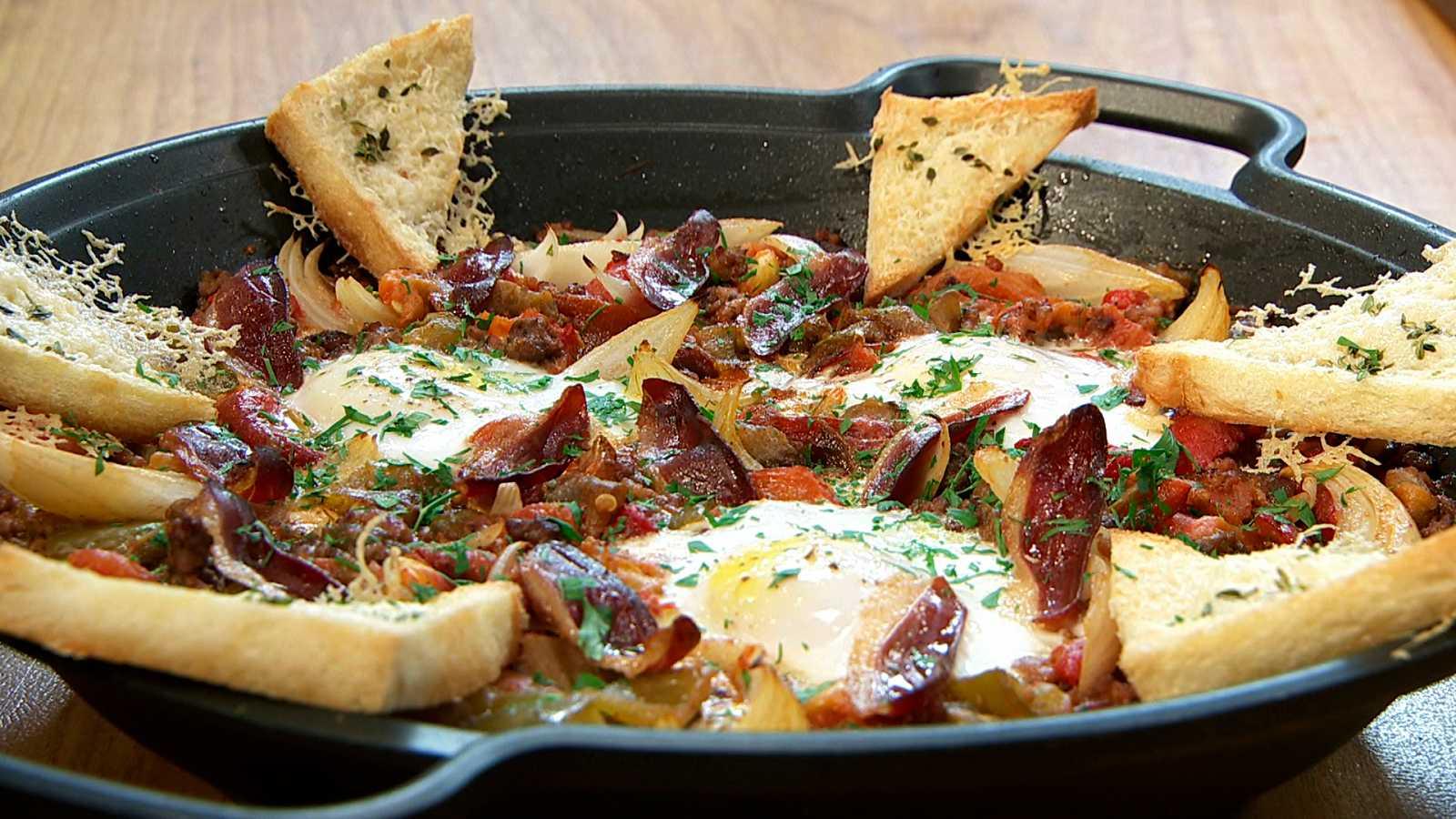 Torres en la cocina - Huevos al horno con verduras