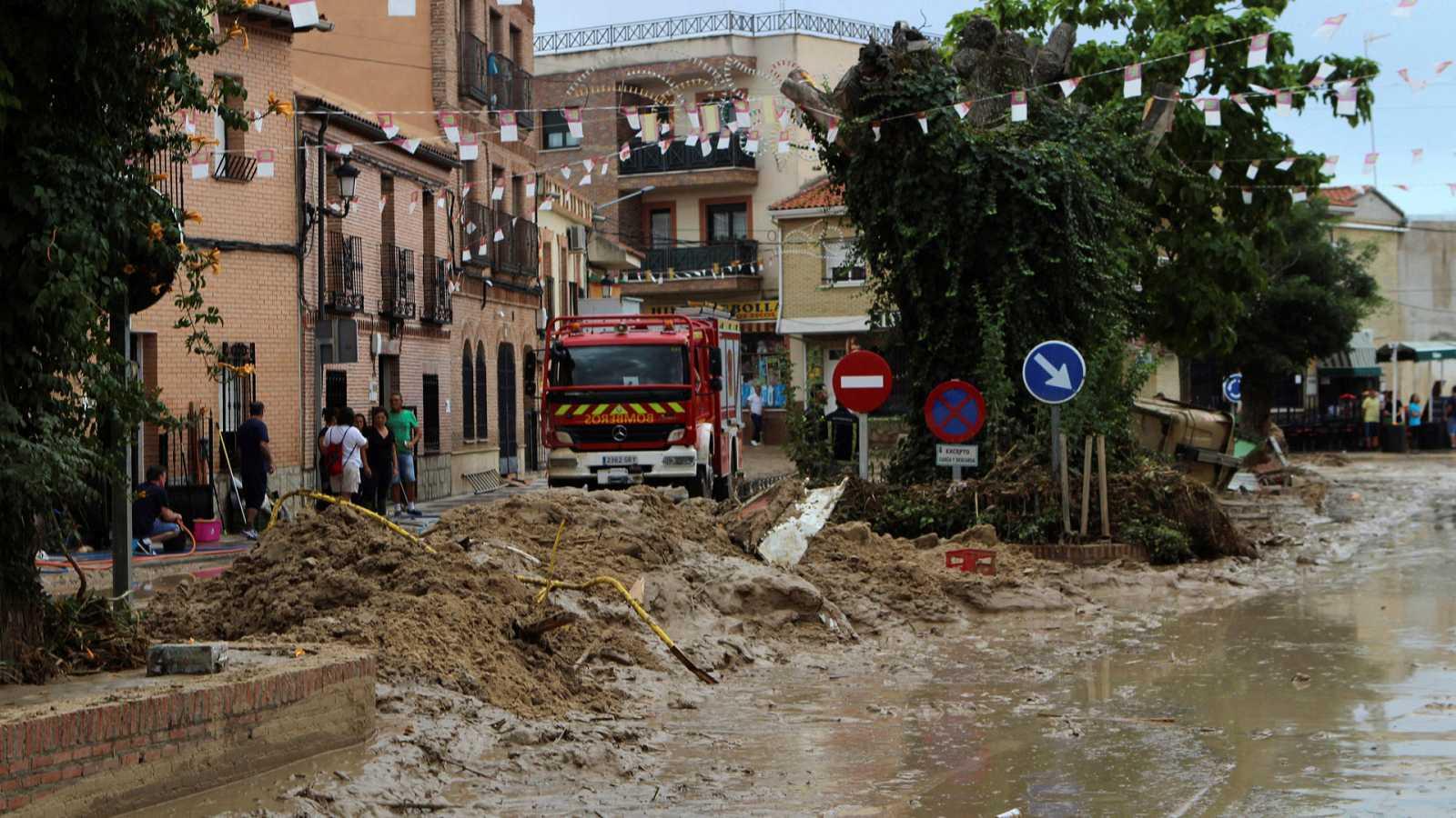 Tremendas inundaciones en Cebolla, Toledo