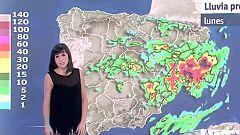 Intensas lluvias en el este peninsular y más suaves en el resto del país