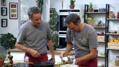 Torres en la cocina - Calabaza asada. Cocochas de merluza