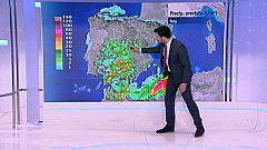 Chubascos y tormentas localmente fuertes en el tercio sur peninsular y Melilla