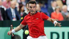 Copa Davis: Bautista se luce en la red ante Pouille