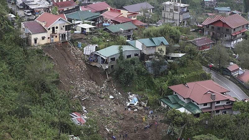 El tifón Mangkhut deja medio centenar de muertos en Filipinas