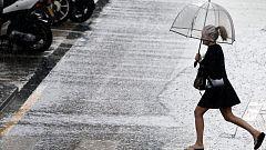 Chubascos o tormentas que podrían ser localmente fuertes en la Comunidad Valenciana, Cataluña, Baleares y áreas próximas.