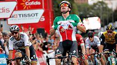 Vuelta 2018 | Viviani gana al 'sprint' el paseo de gloria de Yates por Madrid