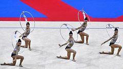 Gimnasia rítmica - Campeonato del Mundo Final Competición Grupos (5 Aros y 3 Pelotas+2 Cuerdas)