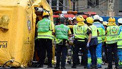 Un trabajador muerto y otros once heridos tras un derrumbe parcial en las obras del hotel Ritz