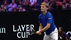Tenis - Laver Cup 2018: 3º partido individual: D. Goffin - D. Schwartzman
