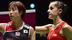 Marín remonta a Okuhara, prolonga su racha triunfal y jugará otra final