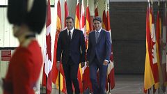 Trudeau recibe a Sánchez con honores militares en Montreal