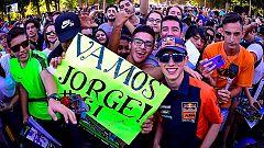 Jorge Prado celebra su flamante mundial de motocross en 'Box TDP'