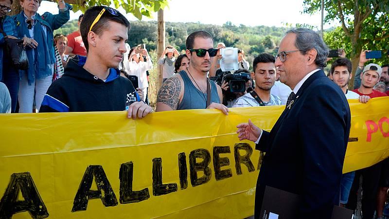 """Torra pide a los CDR que """"presionen"""" para hacer posible la república en Cataluña"""
