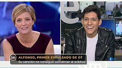 """La Mañana - Alfonso achaca su marcha a una mala elección del tema: """"No estoy acostumbrado a cantar baladas"""""""