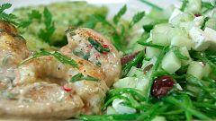 Torres en la cocina - Pollo y langostinos con salsa de cacahuetes