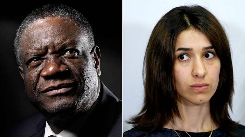 """El doctor congoleño Denis Mukwege y la activista yazidí Nadia Murad han obtenido el Nobel de la Paz 2018 """"por sus esfuerzos para terminar con el uso de la violencia sexual como arma de guerra y en conflictos armados"""", según ha informado el Comité Nob"""