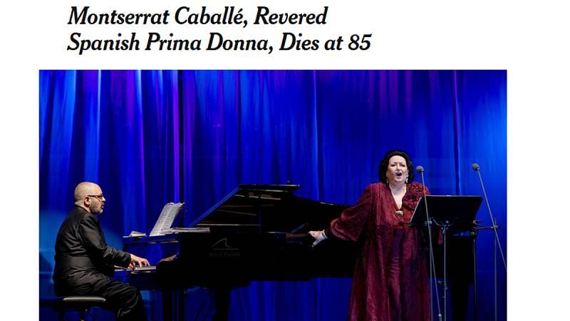 Montserrat Caballé, conocida en todo el mundo y por todo el mundo