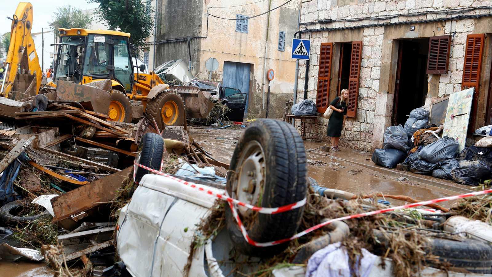Más de 400 efectivos de la UME participan en la búsqueda de desaparecidos por la tromba de agua en Mallorca