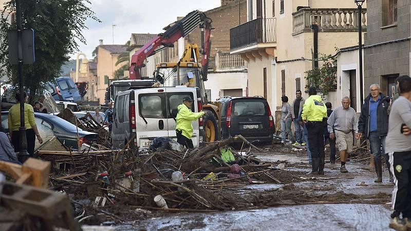 Así fue la riada que desbordó Sant Llorenc de Cardassar