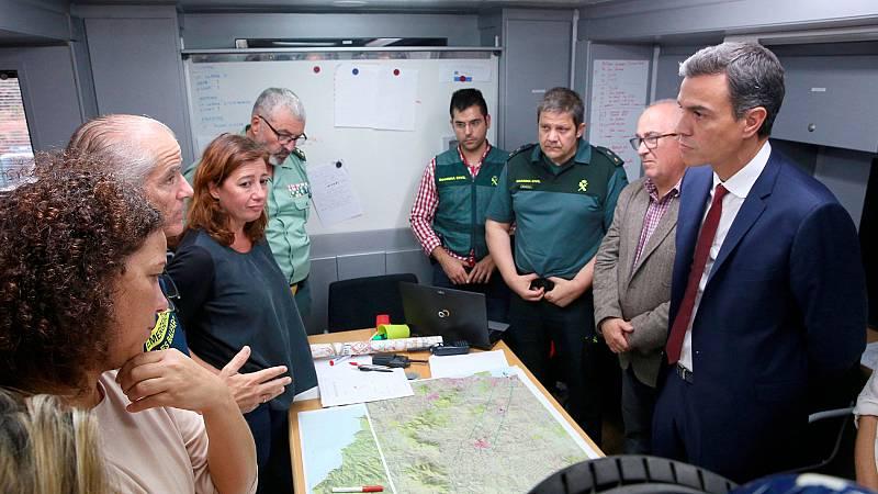 Más de 600 efectivos trabajan en la zona afectada por las fuertes lluvias en Mallorca