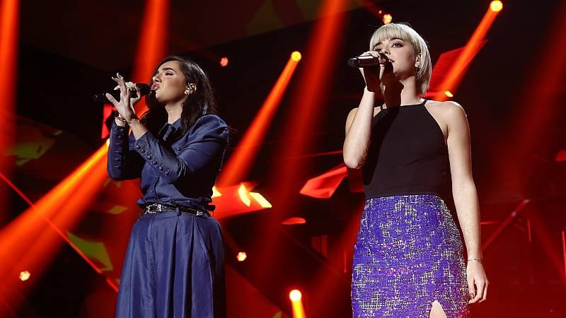 "OT 2018 - Marta y Alba Reche cantan ""Just give me a reason"" en la gala 3"