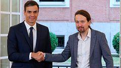 Sánchez e Iglesias firman en Moncloa el acuerdo de presupuestos para 2019