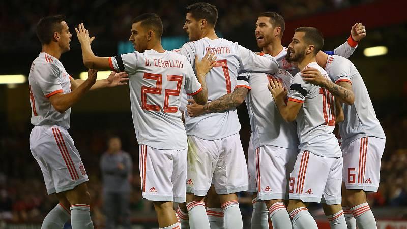Sergio Ramos ha marcado el segundo tanto de España en Gales al rematar de cabeza en el segundo palo un centro de Suso.
