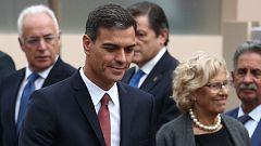 Pedro Sánchez recibe pitos y abucheos en el desfile de la Fiesta Nacional