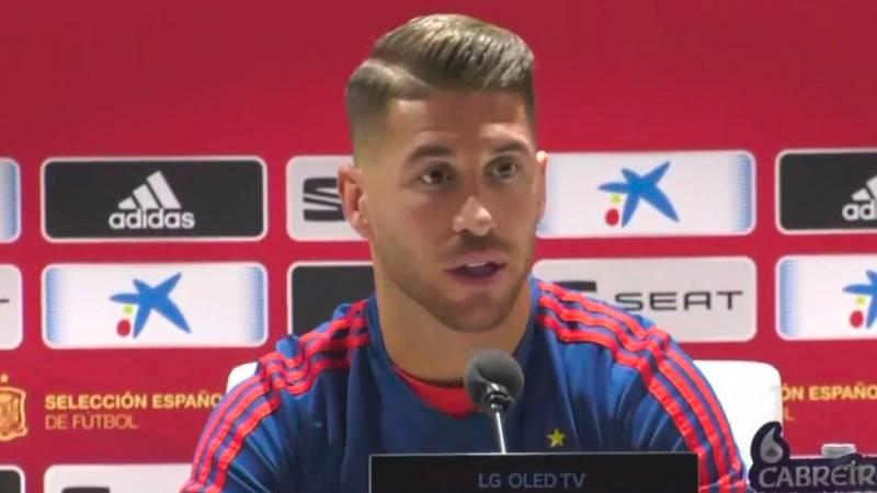 """Sergio Ramos: """"La baja de Piqué está siendo sustituida por compañeros que están en un buen momento"""""""