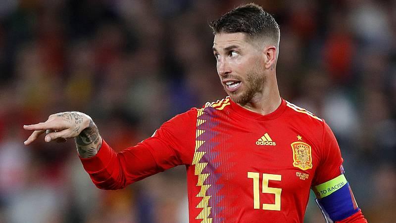 """El capitán de la selección española, Sergio Ramos, ha admitido que no jugaron bien en la primera mitad contra Inglaterra y ha indicado que lo más destacado ha sido """"la reacción del equipo""""."""