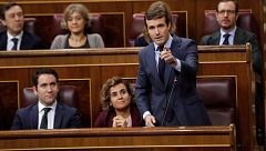 """Casado acusa a Sánchez de presentar en Bruselas unos Presupuestos """"ilegales"""""""