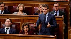"""Casado y Rivera acusan a Sánchez de enviar a Bruselas unos Presupuestos """"ilegales"""""""