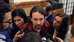 """Iglesias: """"Relajemos el tono, la situación de excepcionalidad en Cataluña requiere mucho diálogo"""""""